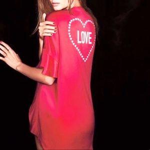 Victoria's Secret Kimono Bathrobe Red Heart Love